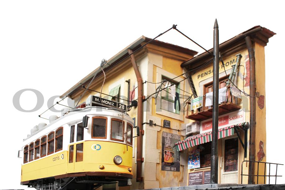 Diorama Lisoba. Rua das Escolas Gerais
