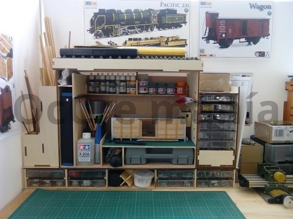 Ampliación completa del mueble taller