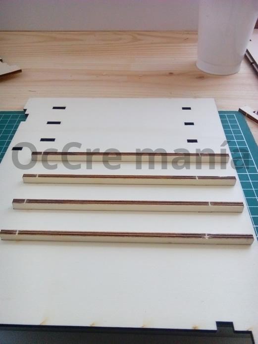 Encolar soportes mueble taller OcCre