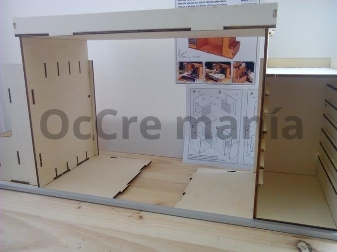 Ajustamos bandeja superior mueble taller OcCre